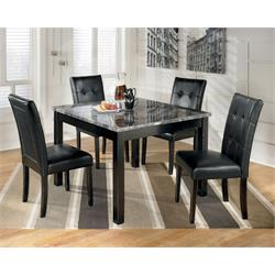 5pc Faux Marble Black D154-5 Image