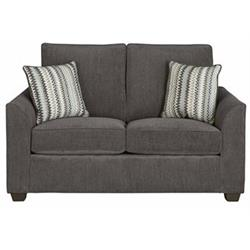 """Emery"" Grey Microfiber U2042 LOVESEAT Image"